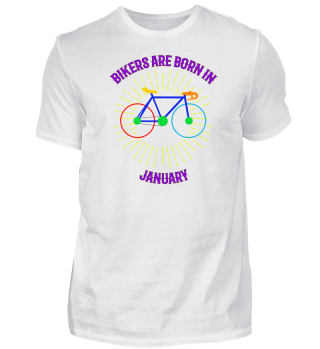 Januar Fahrrad Shirt Geschenk