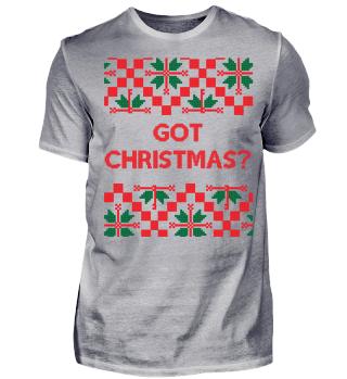 Got Christmas? - Mistelzweig - Ugly Christmas Sweater - Strickmuster - Geschenk - Gift Idea - Santa Claus