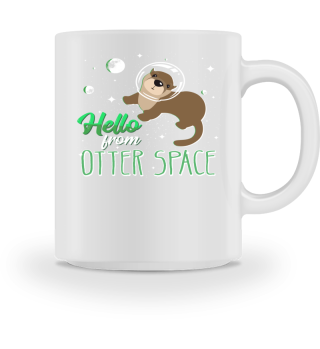 Funny Sea Otter Outer Space Cool Pun