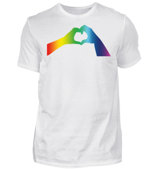 LGBT LOVE Heart Hands Gay Lesbian Pride