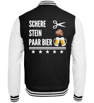 Schere Stein Paar Bier Jacke