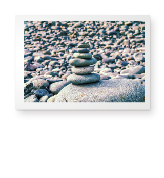 Photo - Stones in Balance - Poster