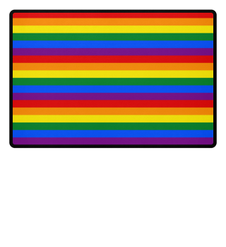 ♥ Gay Pride Rainbow Flag Stripes