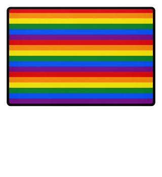 ♥ Gay Pride Rainbow Flag Stripes