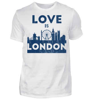 Love Is London - Geschenkidee - Gift Idea - Great Britain - England - Sight Seeing City Trip - Städtereise - Auslandsjahr - Au Pair - Reiselust - Tourist - Tourismus - Skyline - Big Ben - Kensington Palace - Buckingham Palace, London Eye - Union Jack
