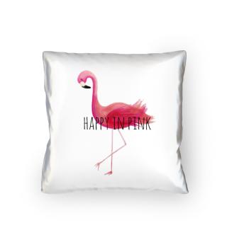 Flamingo - Happy in PINK (Kissen)