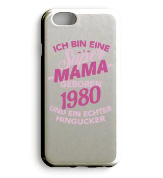 Super Mama 1980 geboren Geschenk