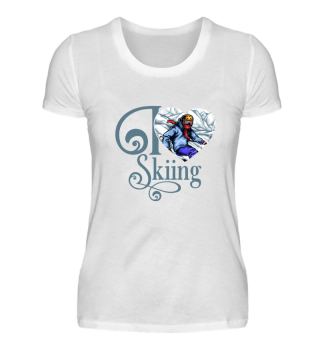 ☛ I LOVE SKIING #1BG