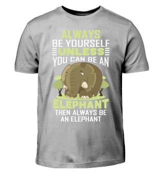 Elephant T-Shirt Kids Boys Girls Gift