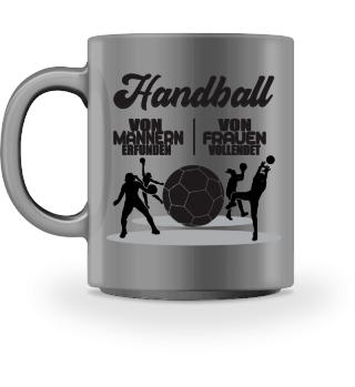 Handball von Männern erfunden Tasse