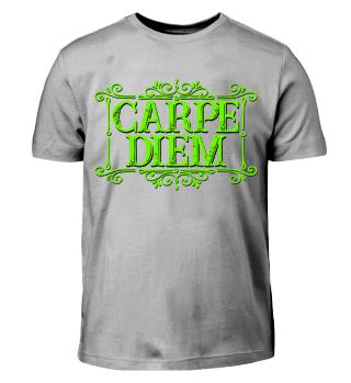CARPE DIEM - vintage frame green T-Shirt
