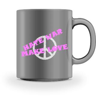 Hate war - make love - peace
