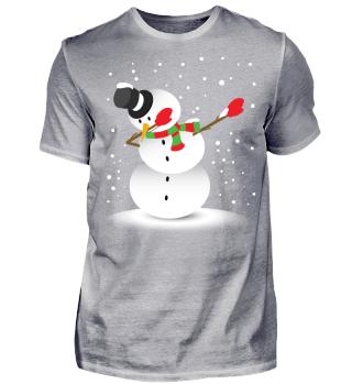 Dabbing Snowman Christmas Shirt Gift