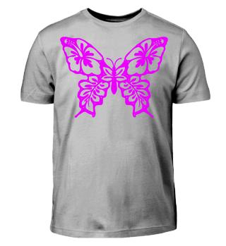 Hibiscus Butterfly zum Ausmalen - pink
