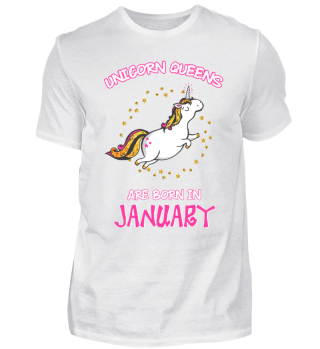 Unicorn Queens are Born in January Shirt