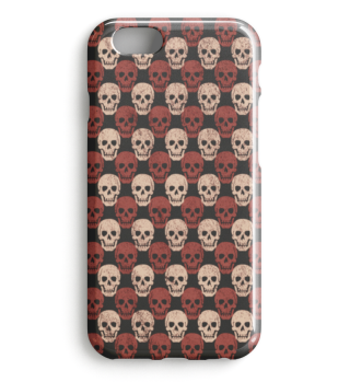 Symmetrical Skulls Pattern brown beige I
