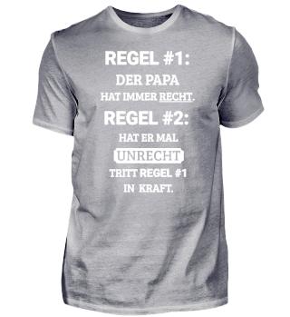 Regel #1 Papa T-Shirt Geschenk
