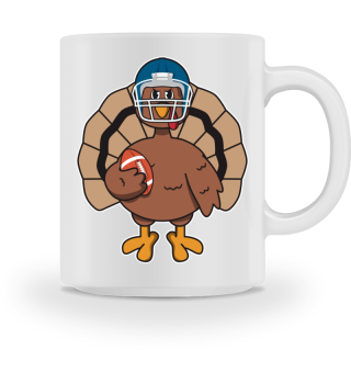 Happy Thanksgiving Turkey Football Gift