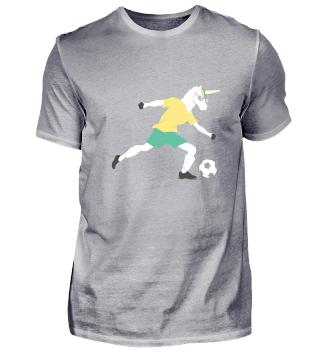Einhorn spielt Fußball