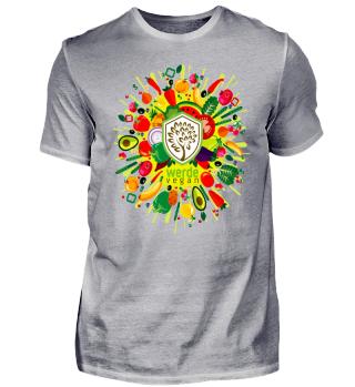 Werde vegan - Shirt bunt