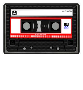 Fussmatte Doormat Vintage Kassette Musik