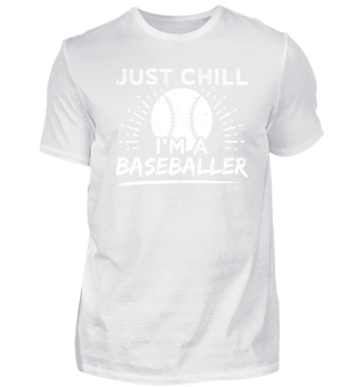 Funny Baseball Shirt Just Chill