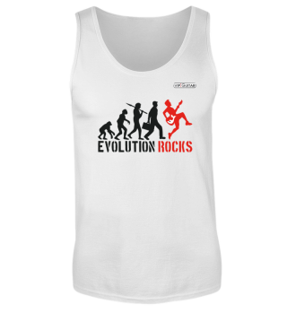 Herren TankTop - Evolution Rocks