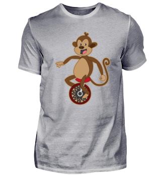 Kindermotiv Affe auf Einrad