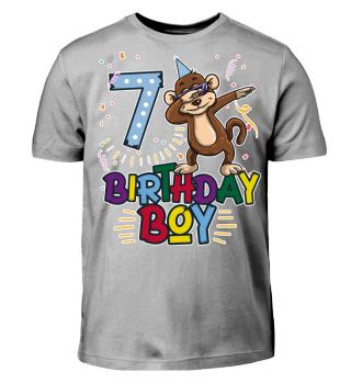 Birthday Boy Monkey 8 fuer dunkel