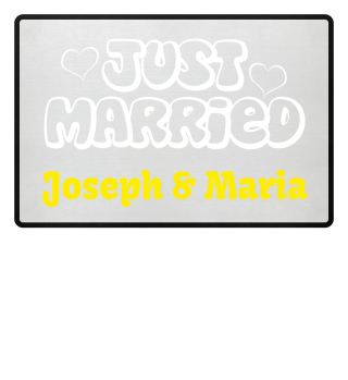 JUST MARRIED - Name weiss Fussmatte