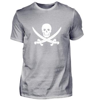 Pirate Skull white | Gift idea