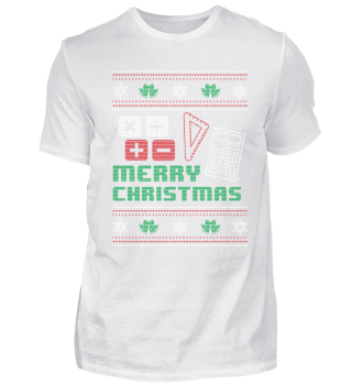 Mathematics Math Shirt Merry Christmas