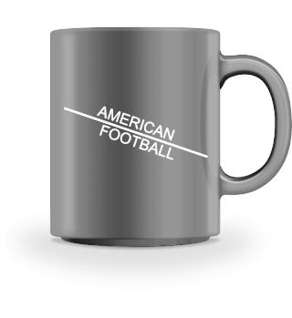 American Football line - white