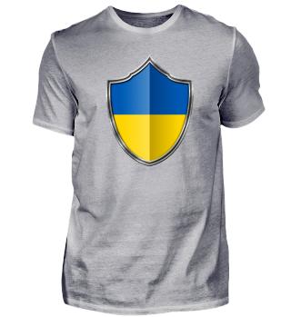 Ukraine Wappen Flagge 015