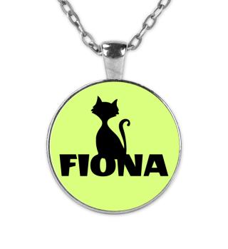 Fiona Namenskette süße Katzenkette cats