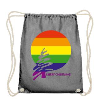Merry Christmas - stylish LGBT rainbow