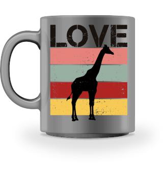 Stripes - LOVE - Giraffe - black