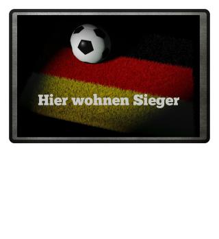 ★ Fussball Teppich - Deutschland Fahne 1