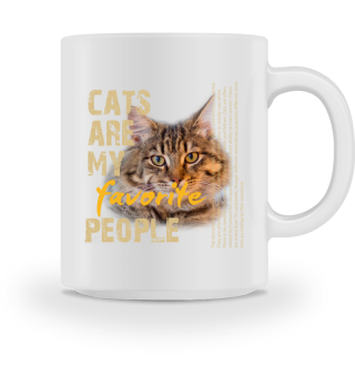 CATS ARE MY FAVORITE PEOPLE yellow