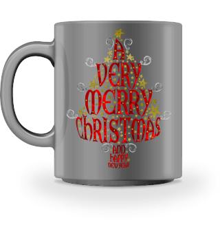 A VERY MERRY CHRISTMAS Tree Ia