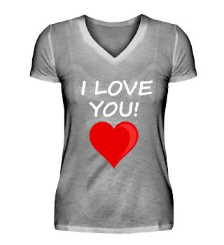 I LOVE YOU! Heart Kiss Valentine's Day
