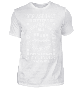 5 Zylinder Shirt-Asphalt-Weiß