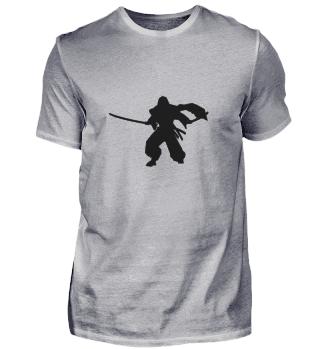 Ninja Samurai Schatten (Schwarz)