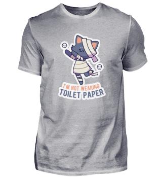 Halloween cat toilet paper mummy gift