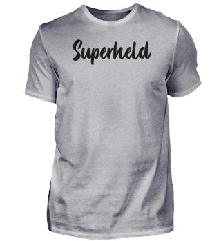 Krasses Design mit Schriftzug 'Superheld'
