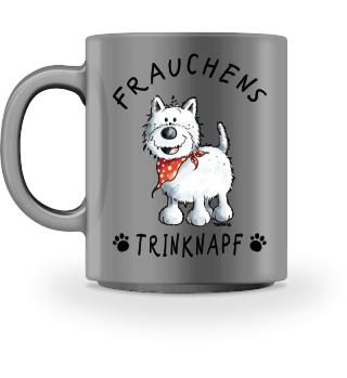 Frauchen Trinknapf West Highland Terrier
