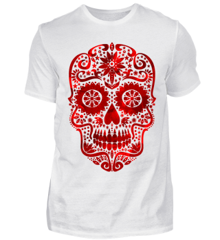 Gothic Stars Sugar Skull - blood