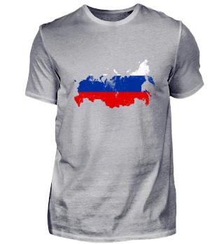 Russland Flagge Landesgrenzen