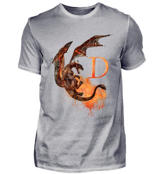 Drachen Buchstabe D