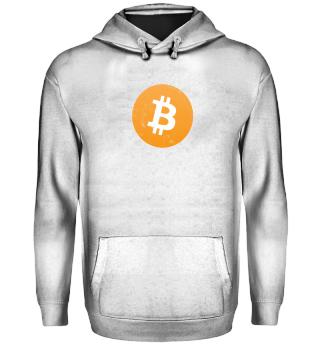 Bitcoin Hoodie (BTC) - Logo Used Look